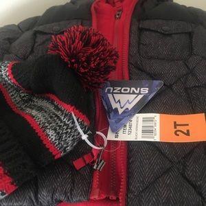 Snozu Boys Puffer 2 and 1 coat